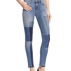 J Brand Patchwork Jeans in Reunion Mid rise, 27